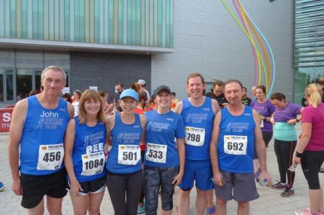 Great Bentley runners at the Twilight 10k