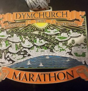 Paul Blackwell's medal from the Dymchurch Marathon