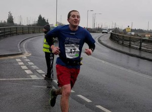 Ben Ficken getting a course PB at the Benfleet 15