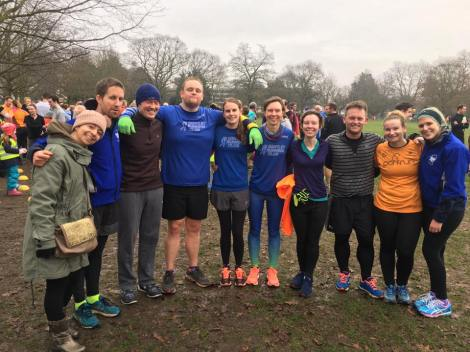 The Bentley representation at Chelmsford Central parkrun on New Year's Day
