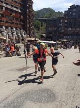Kim finishing the trail des Hauts Forts
