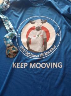 Milton Keynes Marathon medal and top