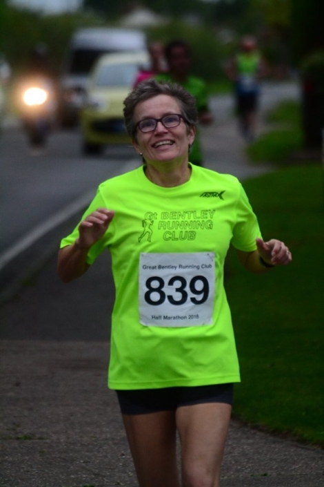 Bev Shortley on her way to a new PB!