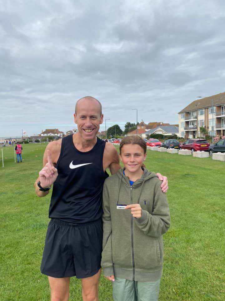 Mark and Angel Jasper at Clacton Seafront parkrun.